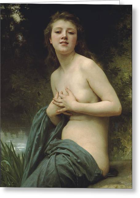 Summer Breeze Greeting Card by William Bouguereau