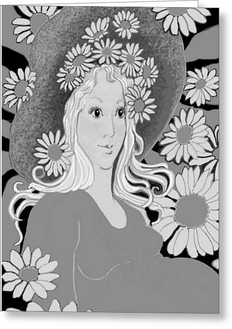 Greeting Card featuring the digital art Summer by Carol Jacobs