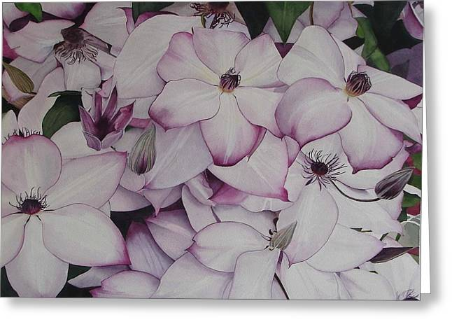 Summer Climbers Greeting Card by Yvonne Scott