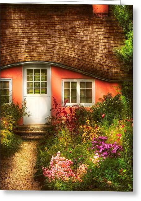 Summer - Cottage - Little Pink Play House Greeting Card