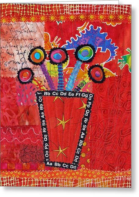 Summer Dance Greeting Card by Susan Rienzo