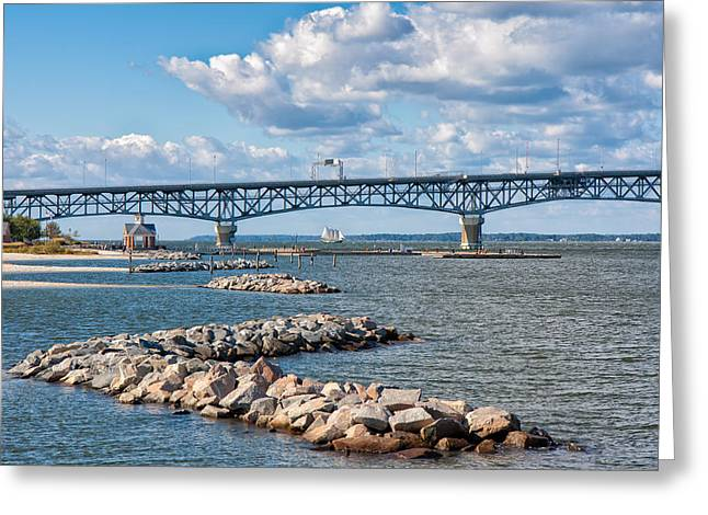 Summer Day At Yorktown Greeting Card by John M Bailey