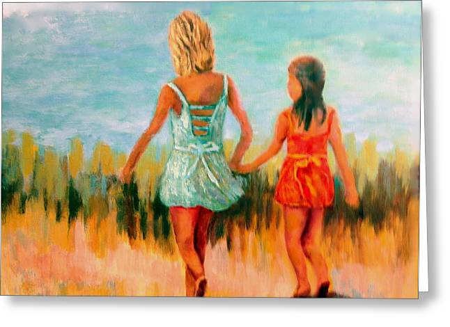 Summer Day Greeting Card by Marie Hamby