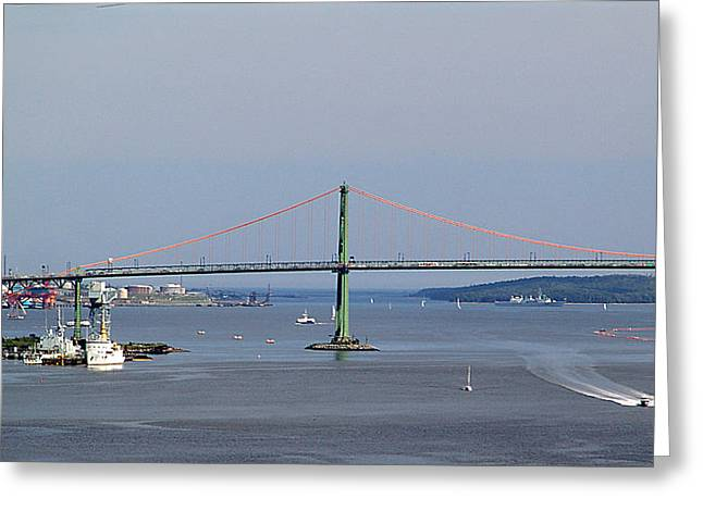 Summer Day On Halifax Harbour Greeting Card by George Cousins