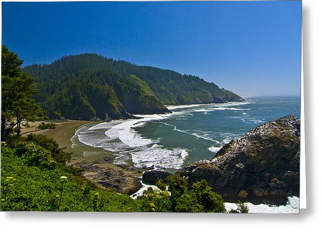 Summer Day On The Oregon Coast Greeting Card