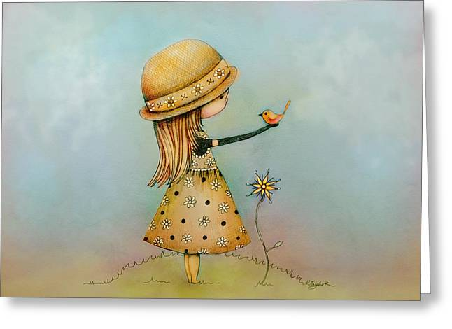 Summer Days Are Golden Greeting Card by Karin Taylor