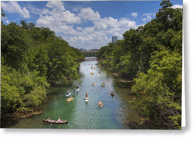 Summer Days At Zilker Park 3 Greeting Card by Rob Greebon