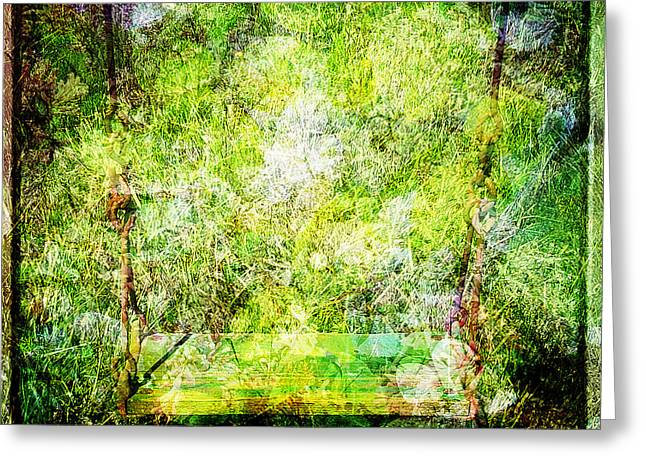 Greeting Card featuring the mixed media Summer Days Of Yore #1 by Sandy MacGowan