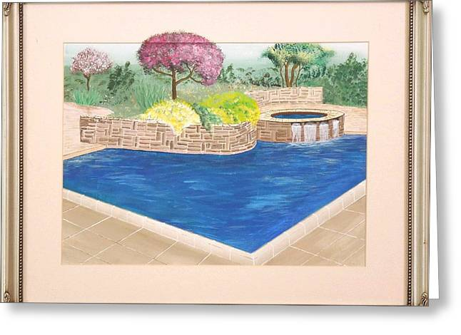Greeting Card featuring the painting Summer Days by Ron Davidson