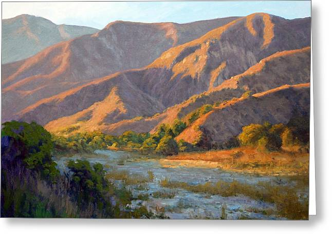 Summer Evening Eaton Canyon Greeting Card