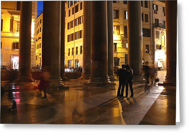 Summer Evening In Rome Greeting Card