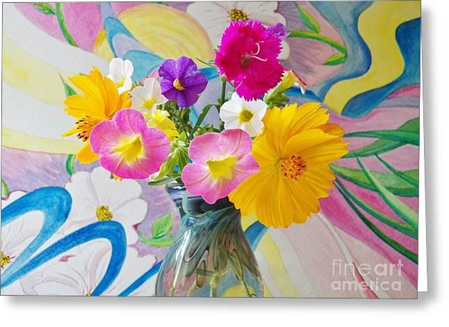 Summer Fiesta Island Greeting Card by Judy Via-Wolff