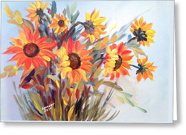Summer Flowers Greeting Card by Dorothy Maier