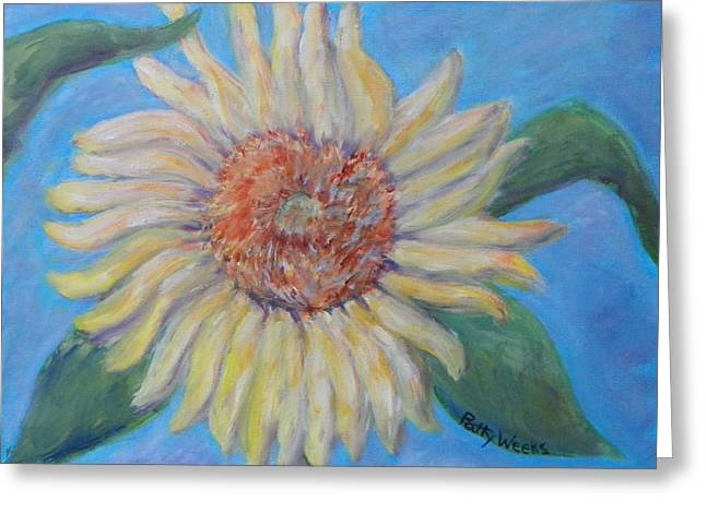 Summer Garden Sunflower Greeting Card by Patty Weeks