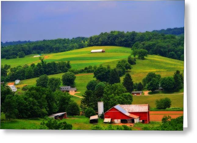 Summer Green In Berlin Ohio Greeting Card by Dan Sproul
