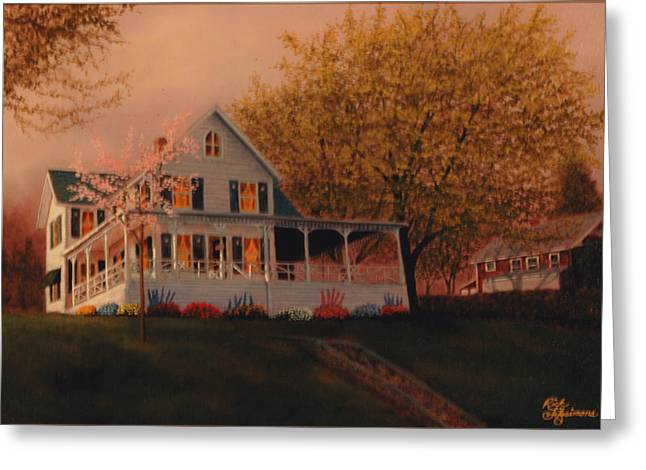 Summer Home Greeting Card by Rick Fitzsimons