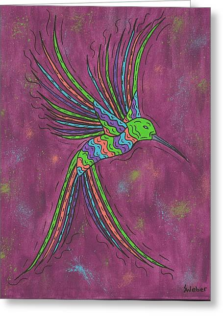 Summer Hummer Greeting Card by Susie WEBER