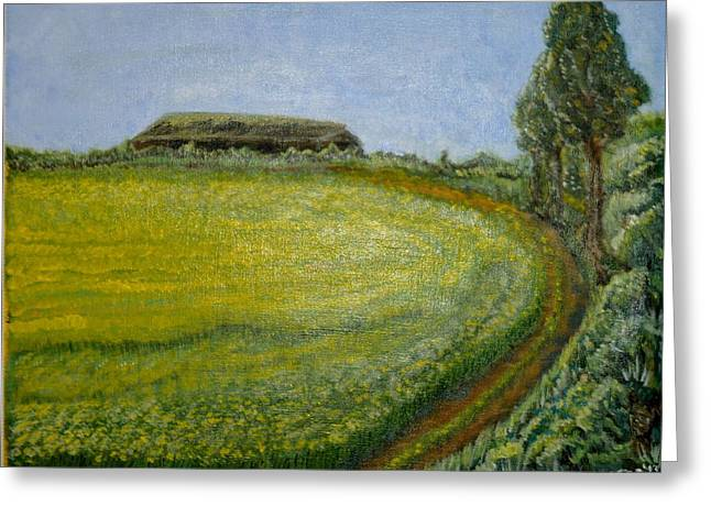 Summer In Canola Field Greeting Card