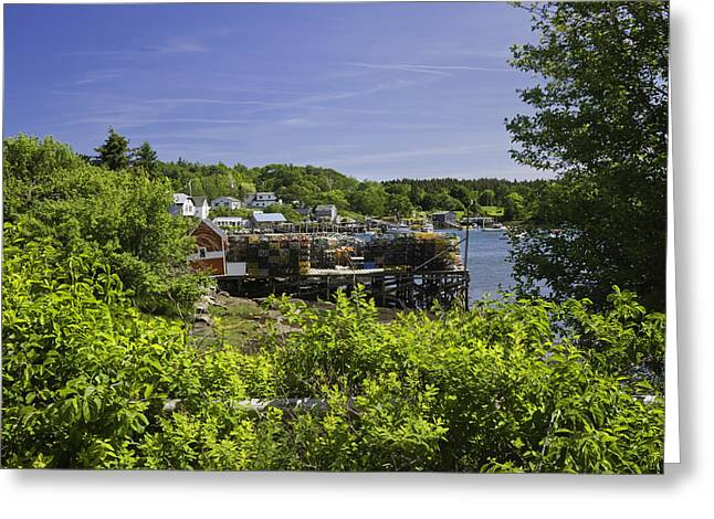 Summer In South Bristol On The Coast Of Maine Greeting Card by Keith Webber Jr