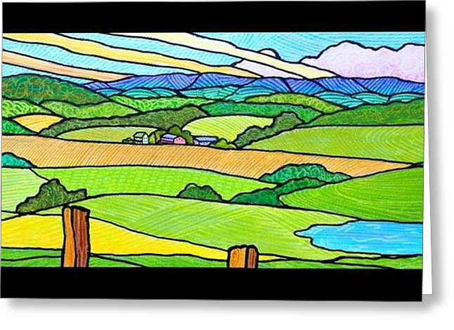 Summer In The Shenandoah Valley Greeting Card by Jim Harris