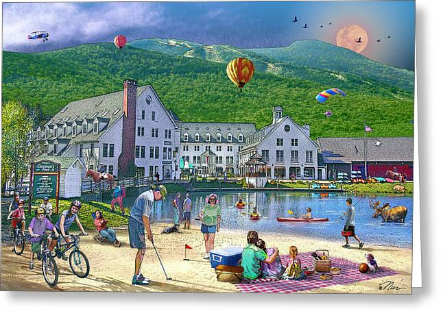 Summer In Waterville Valley Greeting Card