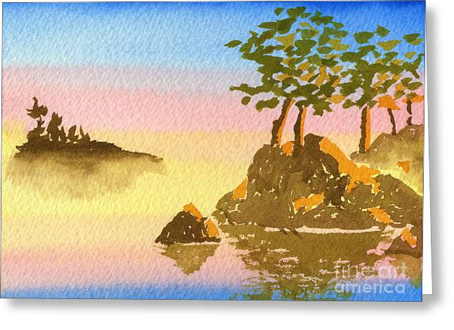 Summer Into Fall Greeting Card by Beverly Claire Kaiya