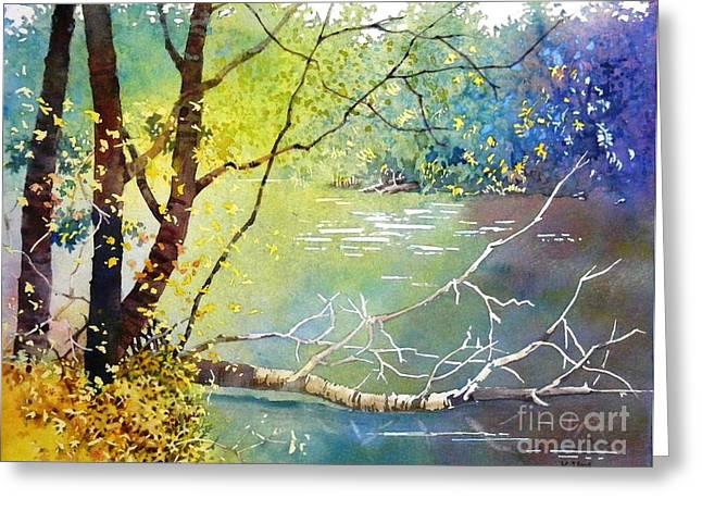 Summer Lakeside Greeting Card