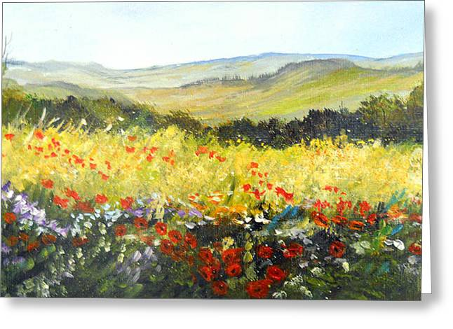 Summer Landscape Dream Greeting Card by Dorothy Maier