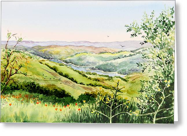 Summer Landscape Inspiration Point Orinda California Greeting Card