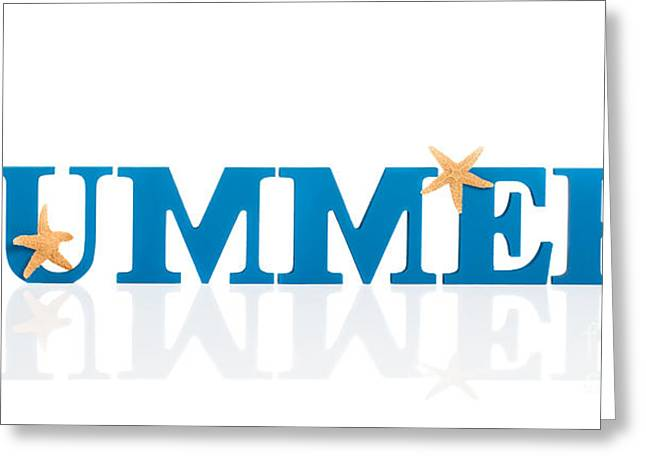 Summer Letters Greeting Card