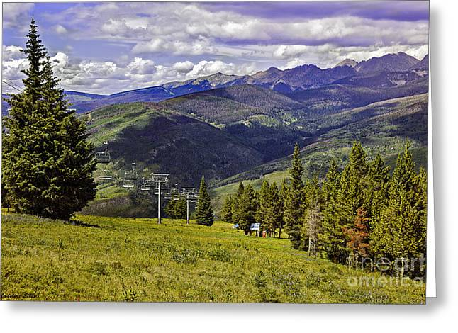 Summer Lifts - Vail Greeting Card by Madeline Ellis