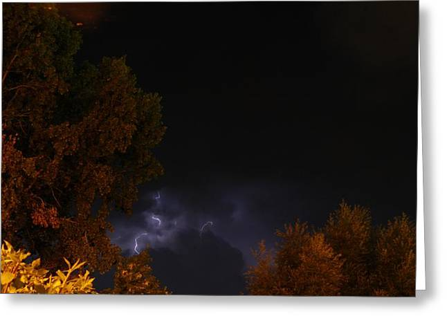 Greeting Card featuring the photograph Summer Lightning Storm by Ramona Whiteaker