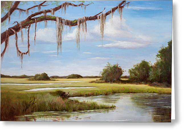 Summer Marsh Greeting Card