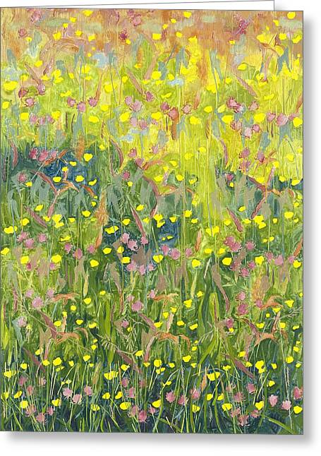 Summer Meadow Greeting Card by Leigh Glover