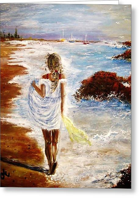 Greeting Card featuring the painting Summer Memories by Cristina Mihailescu