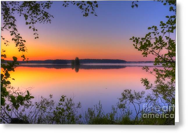 Summer Morning At 02.05 Greeting Card by Veikko Suikkanen