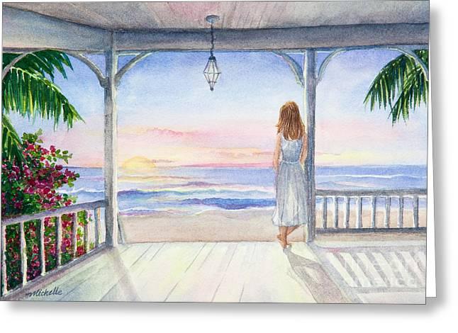 Summer Morning Watercolor Greeting Card