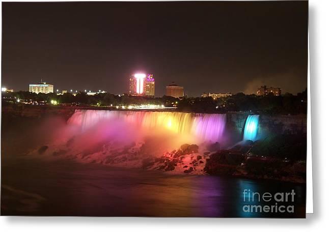 Summer Night In Niagara Falls Greeting Card