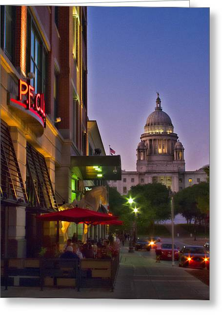 Summer Night In Providence Greeting Card