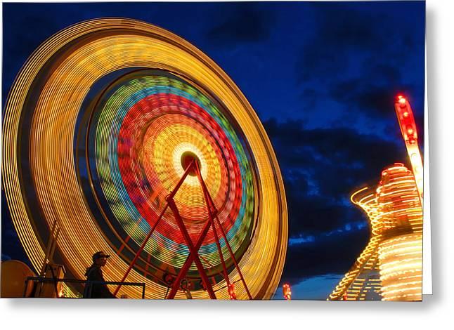 Summer Nights Ferris Wheel Greeting Card