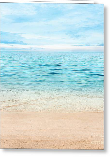 Summer Ocean Greeting Card by Mythja  Photography