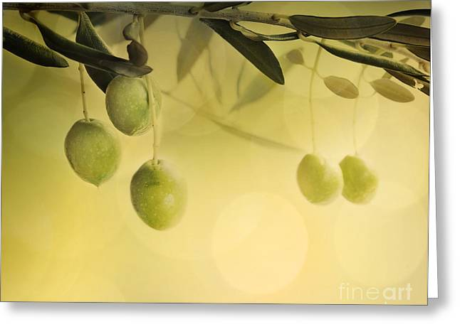 Summer Olives Design Greeting Card