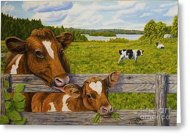 Summer Pasture Greeting Card