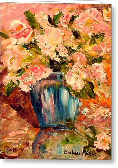 Summer Petals Greeting Card by Barbara Pirkle