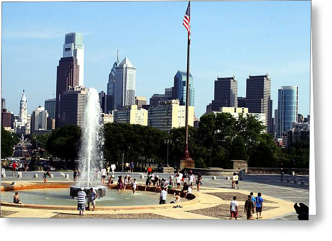 Summer Philly Skyline Greeting Card