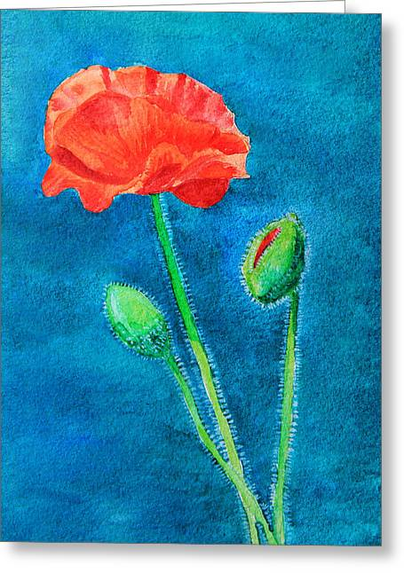 Summer Poppy Greeting Card