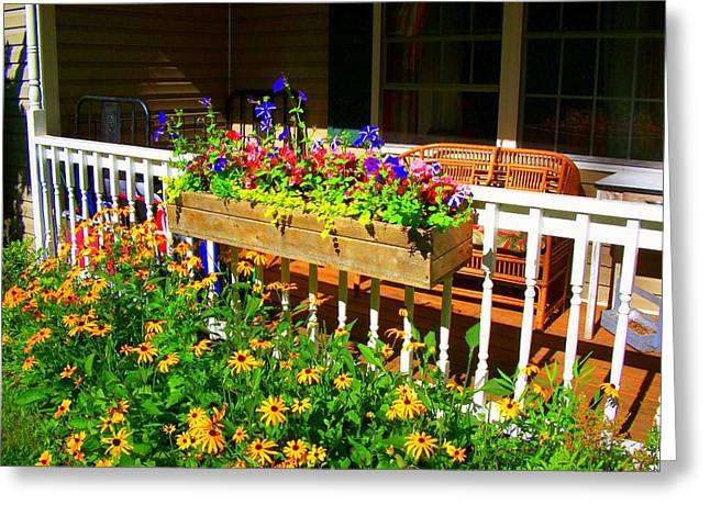 'summer Porch' Greeting Card