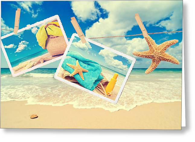 Summer Postcards Greeting Card by Amanda Elwell
