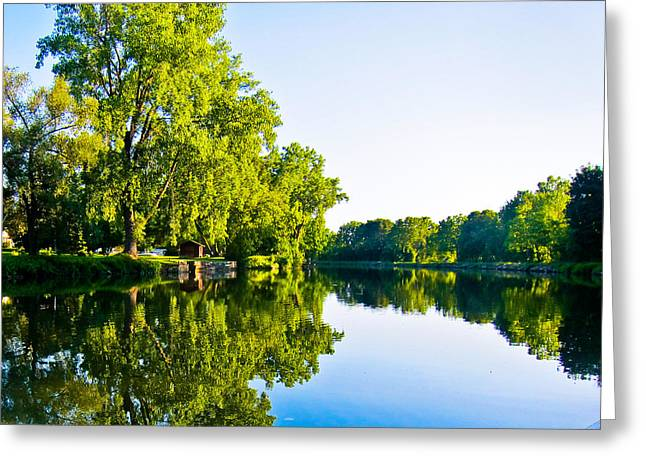 Greeting Card featuring the photograph Summer Reflections by Sara Frank