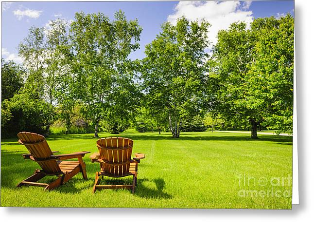 Summer Relaxing Greeting Card